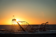 Jet Star Photo Metal Prints - Roller Coaster Sunrise Metal Print by Michael Ver Sprill