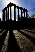 Backlit Prints - Roman Temple Silhouette Print by Jose Elias - Sofia Pereira