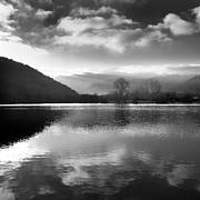 Auvergne Prints - Romantic lake Print by Bernard Jaubert