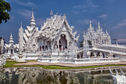 Wat Metal Prints - Rong Khun Temple Metal Print by Adrian Evans