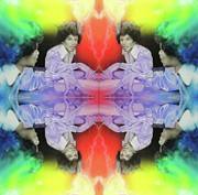 Jimi Hendrix Painting Prints - Room Full of Jimis Print by Christian Chapman Art