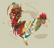 Kim Wang - Rooster Stylised Pop Art...