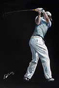 Golfer Paintings - Rory McIlroy 2009 by Mark Robinson