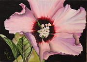 Althea Painting Metal Prints - Rose of Sharon Metal Print by Karen Beasley