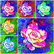 Photo Images Mixed Media - Roses by Gabi Siebenhuehner