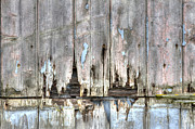Tiled Framed Prints - Rotting Wooden Panels Crumbling With Decay Framed Print by Fizzy Image