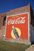 Advertising Posters Prints Framed Prints - Route 66 - Coca Cola Mural Framed Print by Frank Romeo