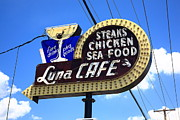 Luna Art - Route 66 - Luna Cafe by Frank Romeo