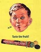Candy Drawings - RowntreeÕs 1950s Uk Fruit Gums Sweets by The Advertising Archives
