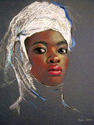 Afro Pastels Prints - Royalty Print by Joan Butler Gore