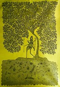Gond Tribal Art Paintings - Rsu 72 by Ram Singh Urveti