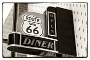 Vintage Diner Framed Prints - Rt. 66 Diner Framed Print by John Rizzuto