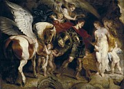 Rubens, Peter Paul 1577-1640. Perseus Print by Everett