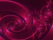 Fuschia Posters - Ruby Red Poster by Lena Auxier