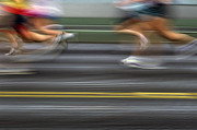 Marathons Prints - Runners Blurred Print by Jim Corwin