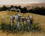 Letter Painting Originals - Rural Delivery by Val Stokes
