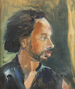 Portrait Paintings - Russell by Daun Soden-Greene