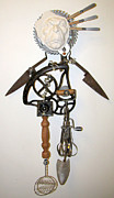 Assemblage Sculpture Originals - Rusty Around The Edges by Keri Joy Colestock