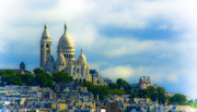 Paris Digital Art Posters - Sacre Coeur Poster by Douglas J Fisher