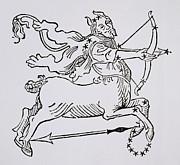 Sagittarius An Illustration Print by Italian School