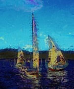 Sky Lovers Art Posters - Sailing day Poster by Julie Lueders