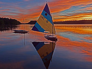 Naomi Framed Prints - Sailing Lake Naomi 2 Framed Print by Jack Paolini