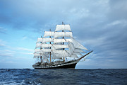 Storms Photos - Sailing ship by Anonymous