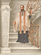 Devotional Painting Prints - Saint Francis Xavier Print by John Alan  Warford