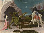 Famous Artists - Saint George and the Dragon by Paolo Uccello