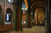 Church Pillars Art - Saint Germain des Pres - Paris by RicardMN Photography