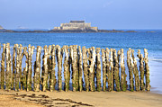 Fort Metal Prints - Saint-Malo Metal Print by Joana Kruse