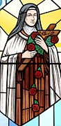 Religious Glass Art Posters - Saint Therese of Lisieux Poster by Gilroy Stained Glass