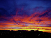 Salt Lake City Sunset Print by Rona Black