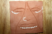 African Art Ceramics - Samuel - tile by Gloria Ssali