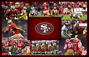 Football Helmets Posters - San Francisco 49ers Poster by Joe Hamilton