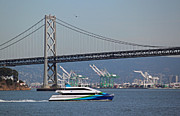 Bay Bridge Photos - San Francisco Bay Ferry by Suzanne Gaff