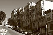 San Francisco Metal Prints - San Francisco Hills  Metal Print by Aidan Moran