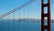 San Francisco Through Golden Gate Bridge Print by Twenty Two North Photography