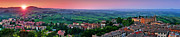 Tuscan Dusk Photos - San Gimignano Sunset Panorama by JR Photography