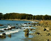 Barbara Snyder Prints - San Simeon Pier Print by Barbara Snyder