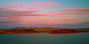 Purple Clouds Acrylic Prints - Sand Hollow River  Acrylic Print by Gilbert Artiaga