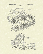 Sand Drawings Prints - Sand Trap Rake 1971 Patent Art Print by Prior Art Design