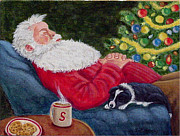 Cookies Prints - Santa and Breagh Print by Fran Brooks