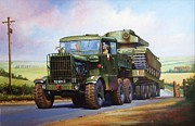 Military Art Paintings - Scammell Explorer. by Mike  Jeffries