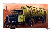 Transportart Originals - Scammell frameless tanker. by Mike  Jeffries