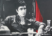 Tony Montana Framed Prints - Scarface Framed Print by Luis Ludzska