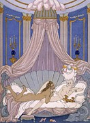 Sex Framed Prints - Scene from Les Liaisons Dangereuses Framed Print by Georges Barbier