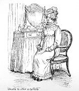 Georgian Drawings - Scene from Pride and Prejudice by Jane Austen by Hugh Thomson