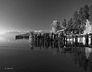 Schweitzer Framed Prints - Schweitzer from Sunnyside and the Boatworks on Lake Pend Oreille Framed Print by Bill Schaudt