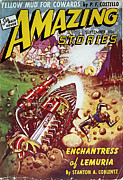 Amazing Stories Posters - Sci-fi Magazine Cover 1941 Poster by Granger